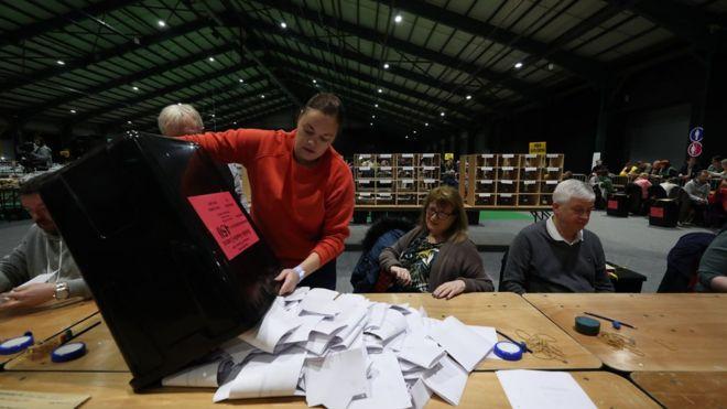 Irish general election: Sinn Féin tops first preference poll