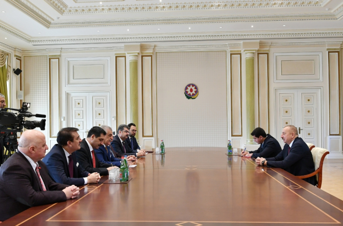 President Ilham Aliyev receives Turkish parlamentarians