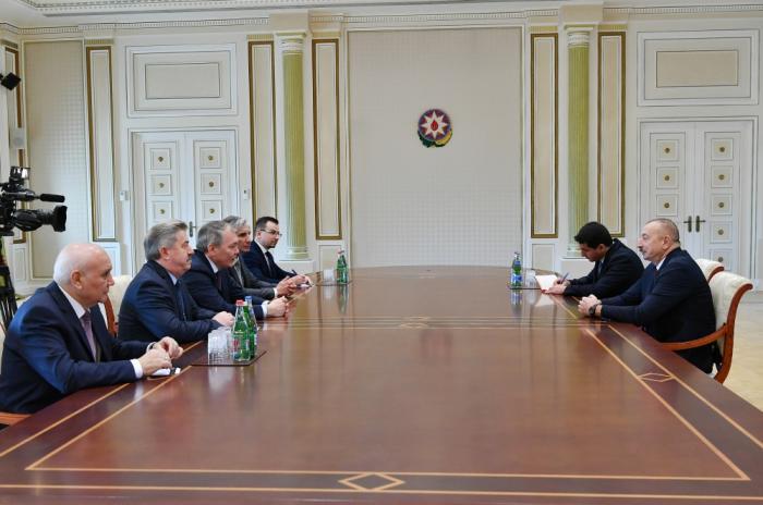 Präsident empfängt russische Delegation