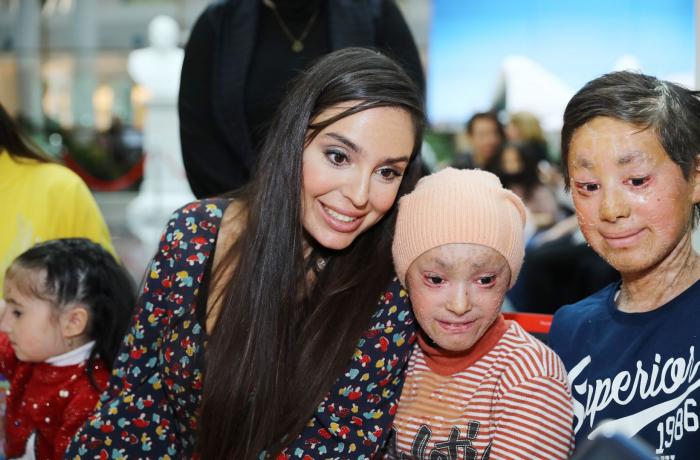 Leyla Aliyeva meets with children suffering from ichthyosis, epidermolysis bullosa and immunodeficiency