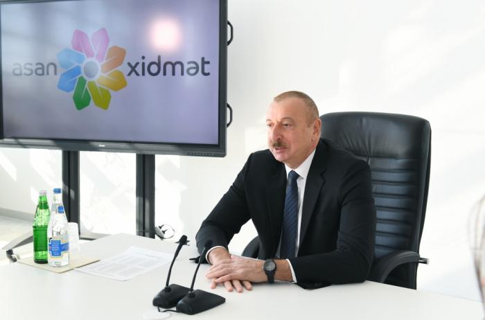 Ilham Aliyev:   Les centres du Service ASAN ont apporté des changements très positifs dans notre pays