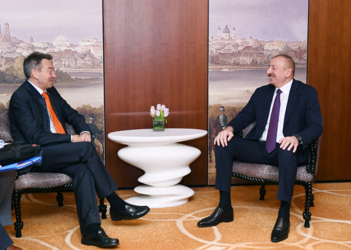 President Ilham Aliyev meets with ICRC President and Kuwaiti PM in Munich -UPDATED