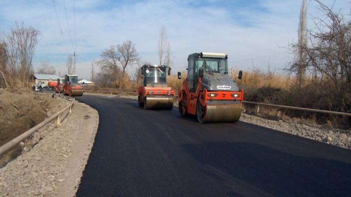Göyçayda 12 kilometrlik yol yenidən qurulur -  FOTO