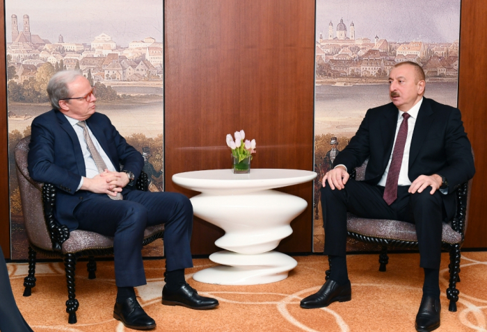 President Ilham Aliyev met with World Bank Managing Director in Munich