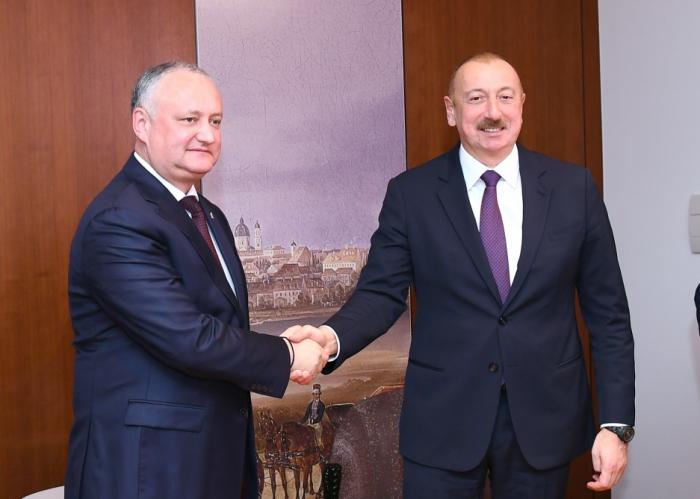 Ilham Aliyev se reúne con el presidente de Moldavia -   FOTO