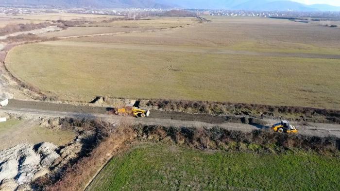 Balakəndə kəndlərarası yol yenidən qurulur