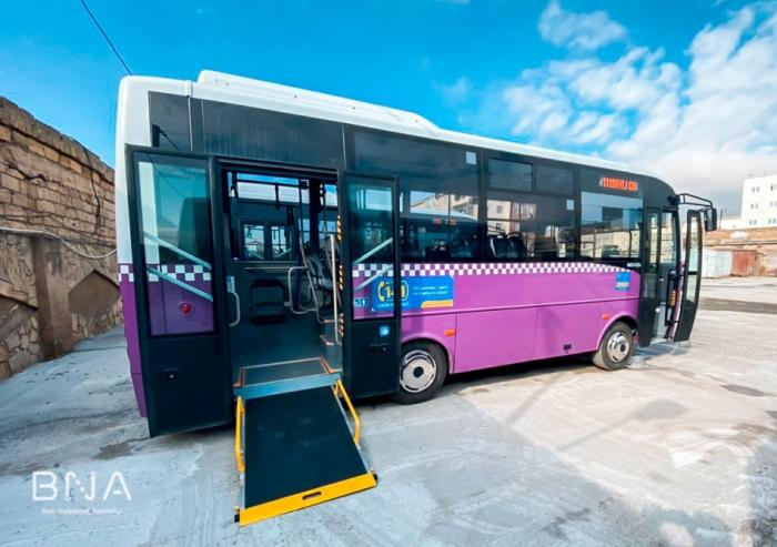 Daha bir marşrut xətti üzrə avtobuslar yeniləndi