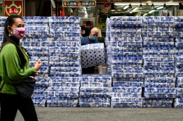 Coronavirus:   vol à main armée de papier toilette à Hongkong