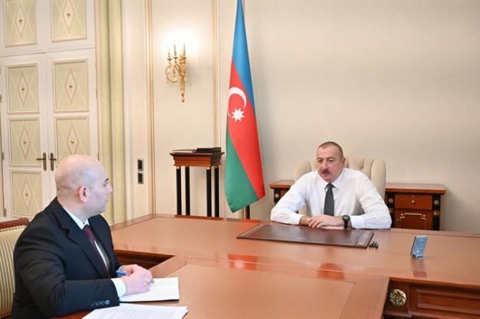 Ilham Aliyev reçoit le président du Conseil d'administration de l'Agence des transports de Bakou