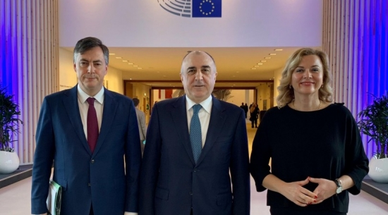 Azerbaijani FM holds meetings in Brussels