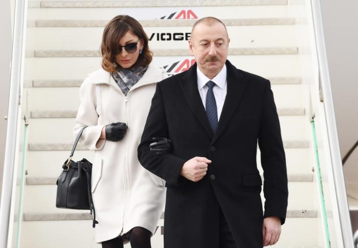 İlham Əliyev və birinci xanım İtaliyaya getdi - FOTOLAR