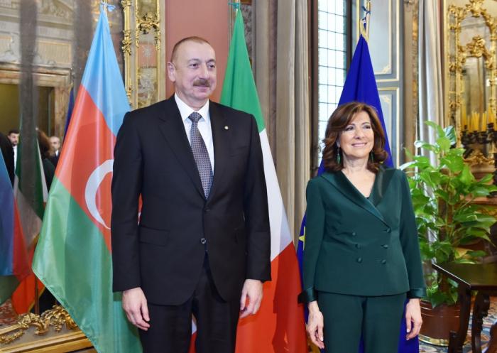 Prezident İtaliya Senatının Sədri ilə görüşüb - FOTOLAR