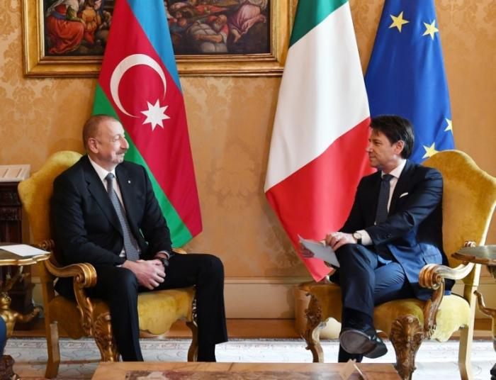 Le président Ilham Aliyev rencontrele président du Conseil italien Giuzeppe Conte -  PHOTOS