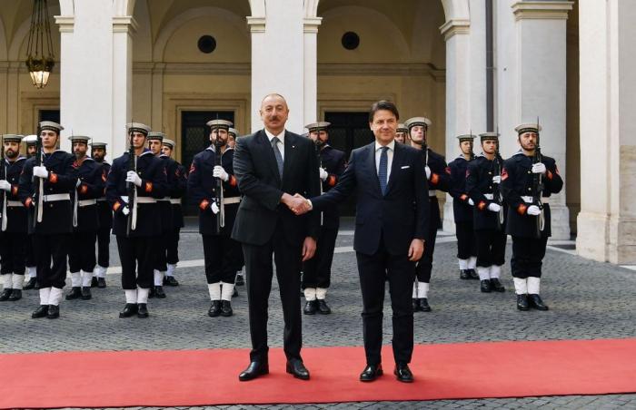 Aserbaidschanischer Präsident trifft sich mit dem Präsidenten des italienischen Ministerrates