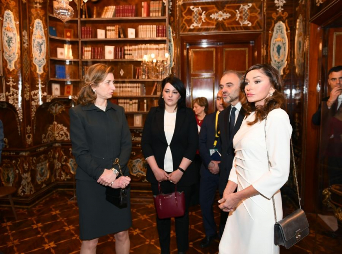 Aserbaidschans First Lady Mehriban Aliyeva besucht den Quirinalspalast in Rom
