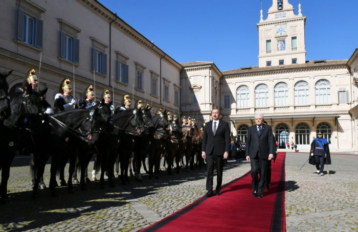 Official seeing-off ceremony held for President Ilham Aliyev in Rome