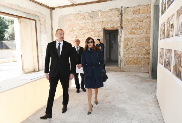 Prezident və xanımı Azərbaycan Mədəniyyət Mərkəzi üçün nəzərdə tutulan bina ilə tanış oldu - FOTOLAR