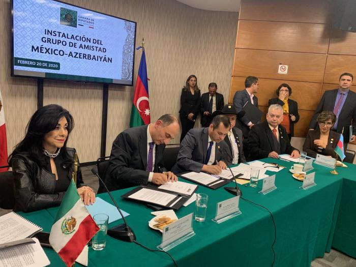 Instalan el Grupo de Amistad México-Azerbaiyán