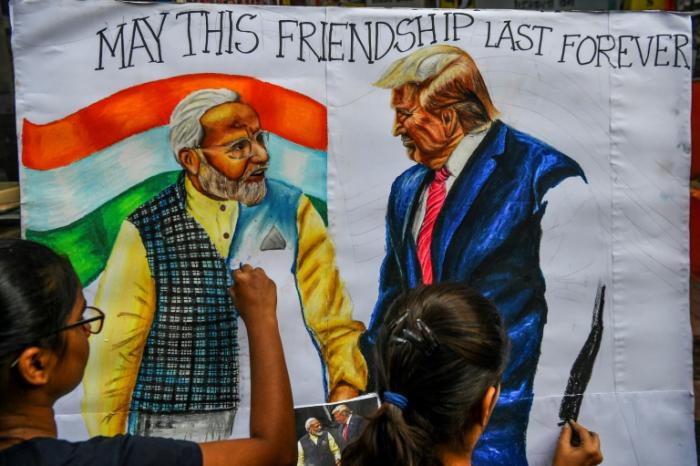 Trump reist zu erstem Staatsbesuch nach Indien