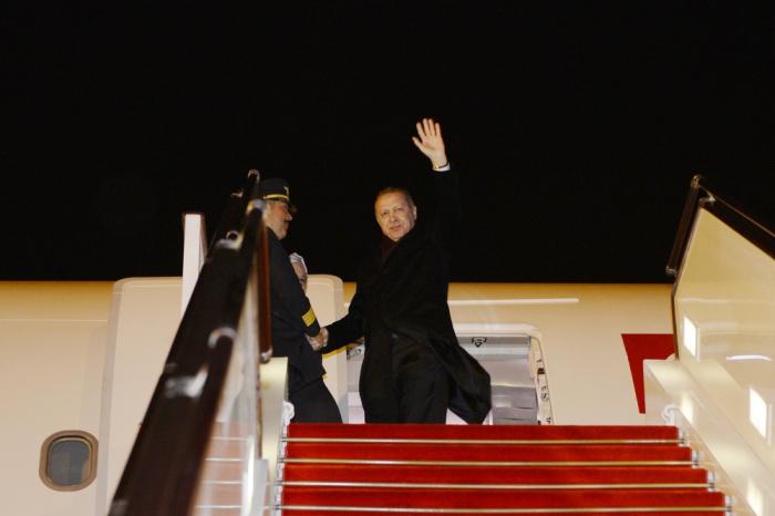 Turkish President Erdogan ends visit to Azerbaijan