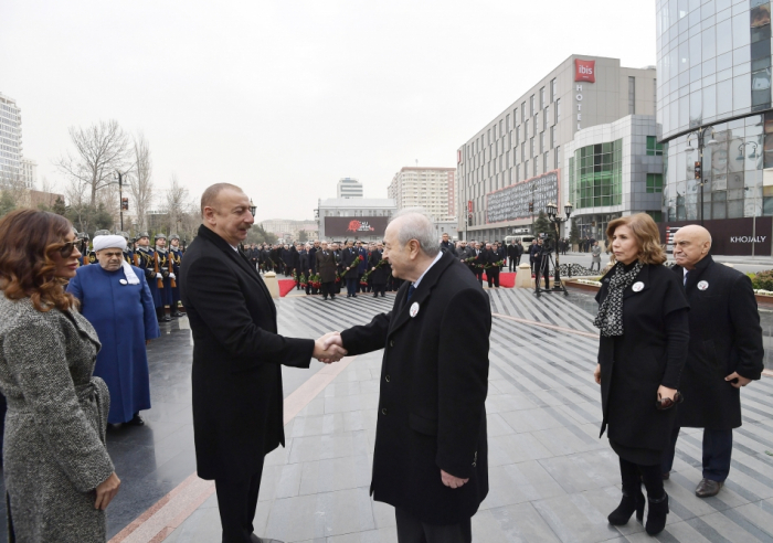 President Ilham Aliyev meets former Azerbaijani president