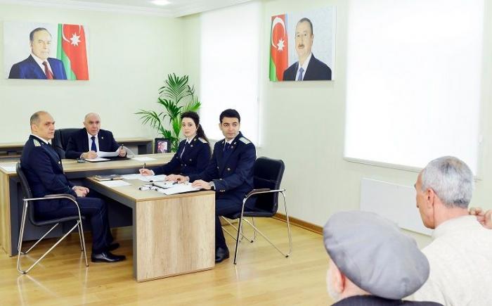 Baş prokuror Şirvanda vətəndaşları qəbul edib