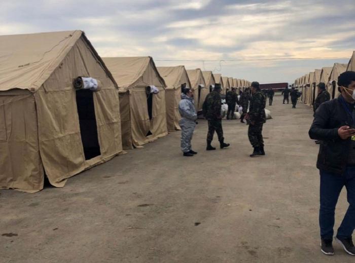 Səyyar hospitallar fəaliyyətə başlayıb, 100 çadır quraşdırılıb