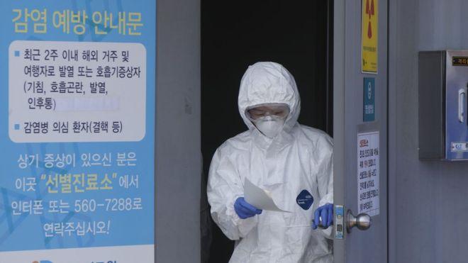 Coronavirus: South Korea sees its largest rise in coronavirus cases