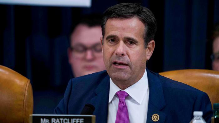 Trump postula por segunda vez al congresista republicano John Ratcliffe como director de Inteligencia