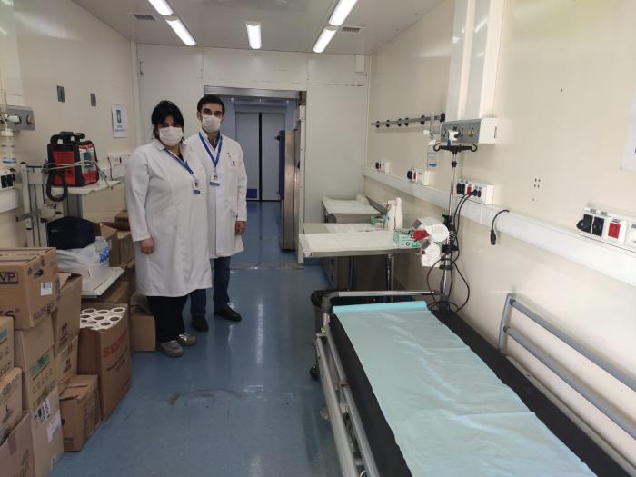 Biləsuvar gömrüyündə səyyar hospital xidmətə başladı