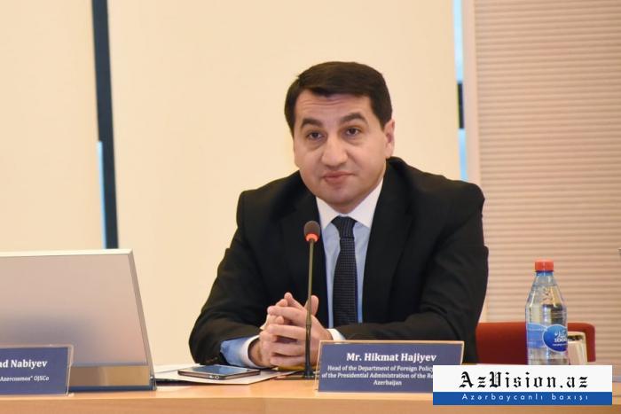 Hikmet Hajiyev spoke of coronavirus