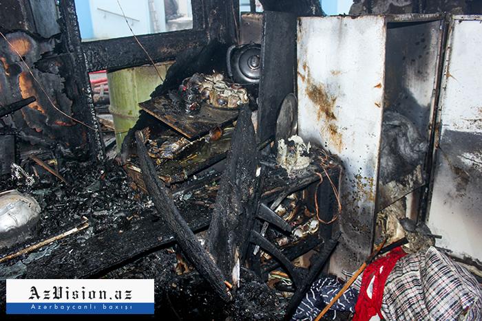 Bakıda 52 yaşlı qadın yanaraq öldü