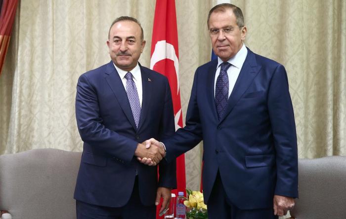 Lavrov və Çavuşoğlu görüşdü