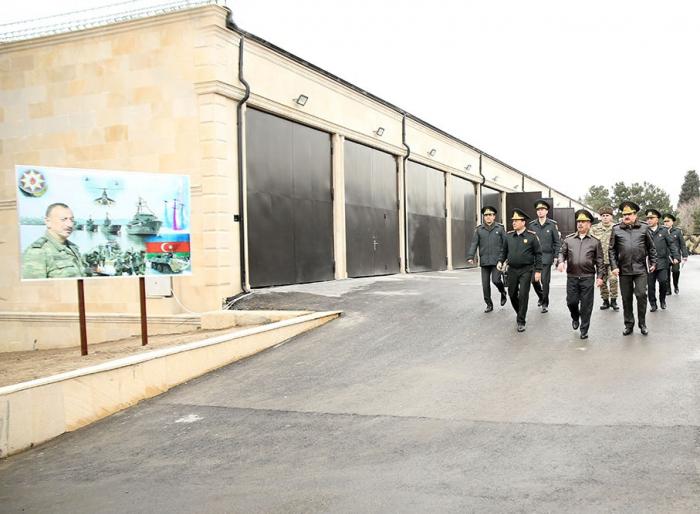 Müdafiə naziri hərbi təyinatlı obyektlərin açılışında - FOTO