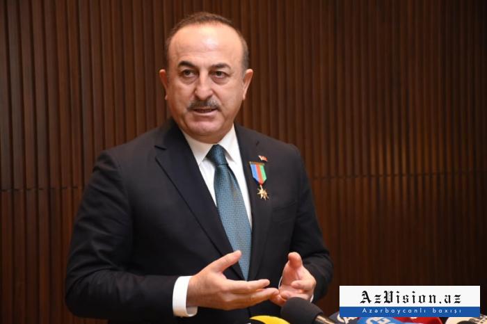 """""""Bundan sonra da Azərbaycanı bütün dünyada müdafiə edəcəyəm"""" - Çavuşoğlu"""