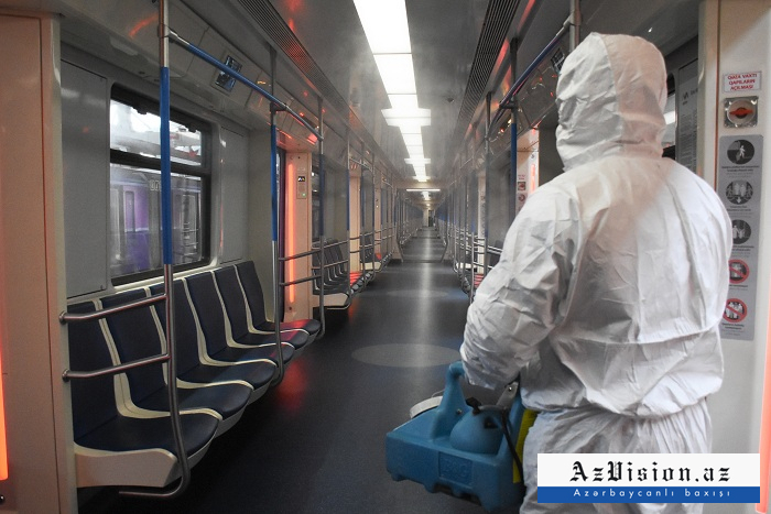 Metroda koronavirusla bağlı profilaktik tədbirlər