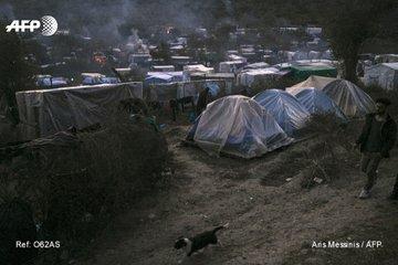 Les insulaires grecs manifestent à Athènes contre les camps de migrants