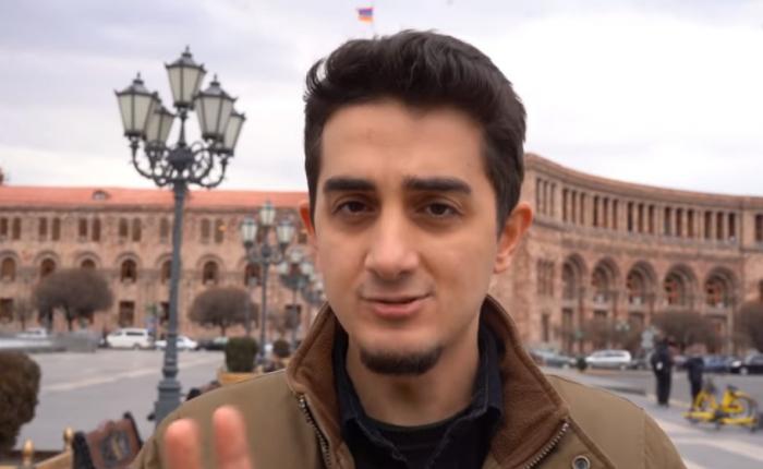 Türk bloger İrəvanda Xocalı ilə bağlı sorğu keçirdi - VİDEO