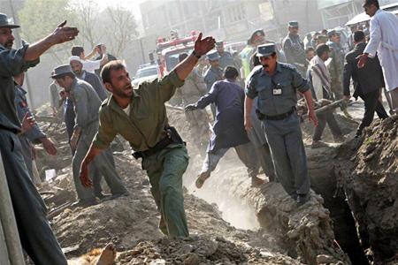 Explosion rocks Afghan capital, no word on casualties