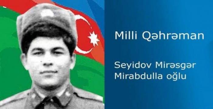 Milli Qəhrəman Mirəsgər Seyidovun doğum günüdür