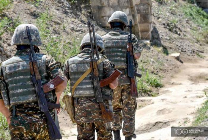Armenischer Soldat verwundet