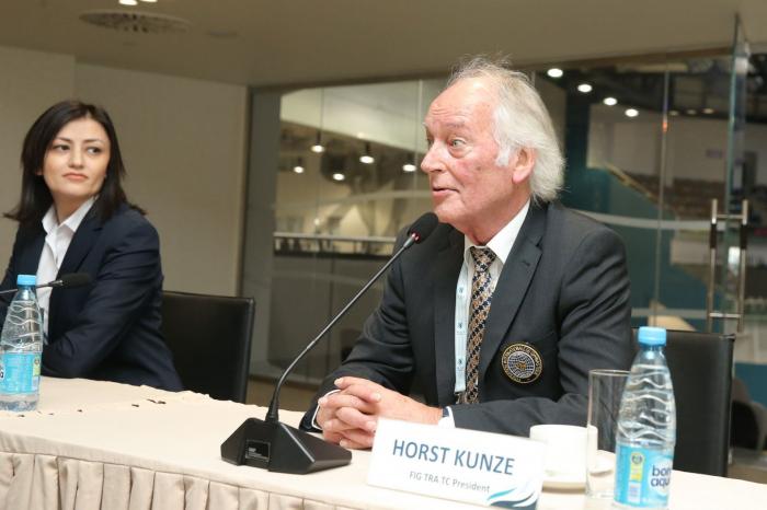 Meeting of delegations of FIG World Cup in Trampoline & Tumbling held in Baku
