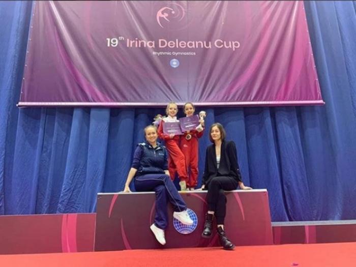 Gimnasta azerbaiyana ganó tres medallas de oro en Rumania