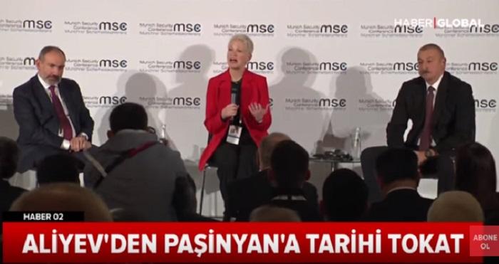 """Türkiyə telekanalı: """"Əliyevdən Paşinyana tarixi sillə"""" - VİDEO"""