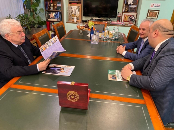 "Mikhail Gusman awarded ""Pride of Azerbaijan"" golden order"