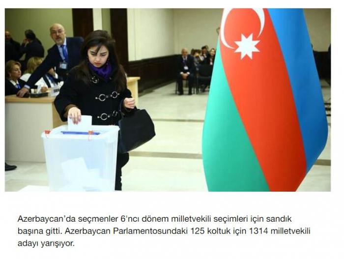 Türkiyə mətbuatı Azərbaycandakı seçkidən yazdı