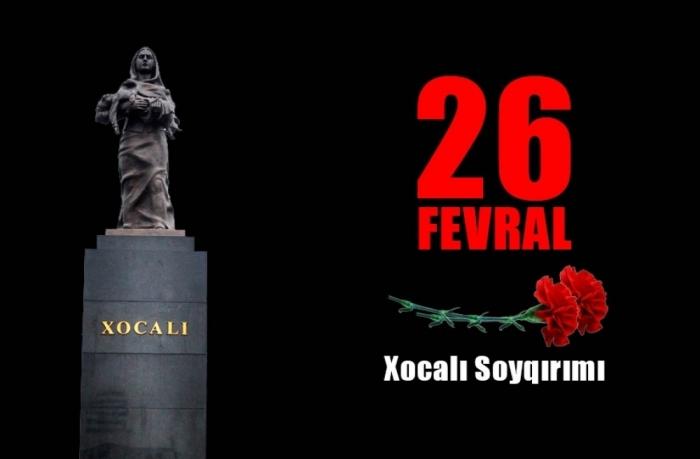 La comunidad azerbaiyana de Nagorno-Karabaj emitió una declaración sobre el 28º aniversario del genocidio de Joyalí
