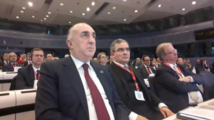 Məmmədyarov Brüsseldə beynəlxalq konfransda iştirak edib