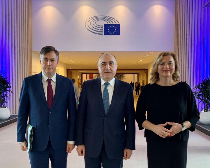 Məmmədyarov Avropa Parlamentinin komitə sədri ilə görüşüb