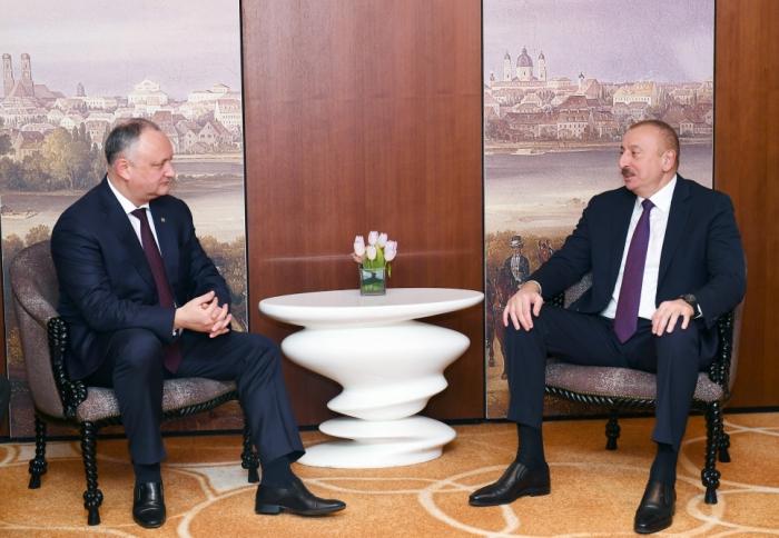 """Igor Dodon  : """" Entre Moldavia y Azerbaiyán se observa una buena dinámica en las relaciones bilaterales"""""""
